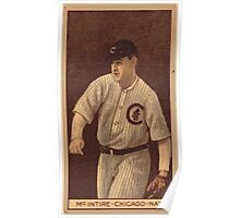 Benjamin K Edwards Collection Harry McIntire Chicago Cubs baseball card portrait 001 Poster