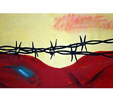 Abstract - barbed wire  Photographic Print