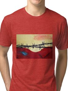 Abstract - barbed wire  Tri-blend T-Shirt