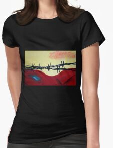 Abstract - barbed wire  Womens Fitted T-Shirt
