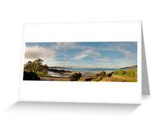 Adventure Bay Panorama, Tasmania, Australia Greeting Card