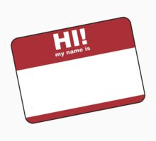 Hi My Name Is Label Design by CalumCJL