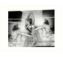 sometimes its easier to dream in black and white Art Print