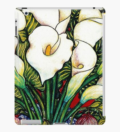 White Lilies iPad Case/Skin