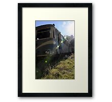 Blue Bird Train - Huon Station. North East Victoria Framed Print
