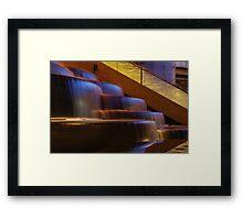 Crown Atrium Waterfall Framed Print