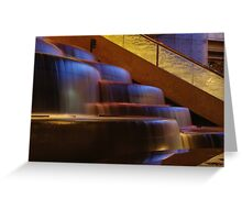 Crown Atrium Waterfall Greeting Card