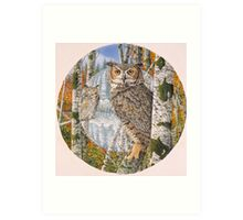 Great Horned Camouflage  Art Print