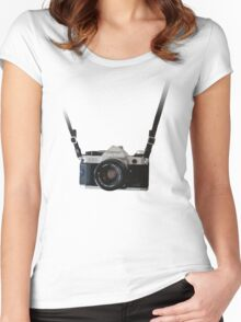 Amazing Hanging Canon Camera - AE1 Program! Women's Fitted Scoop T-Shirt