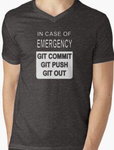 Git Out Custom Mens V-Neck T-Shirt