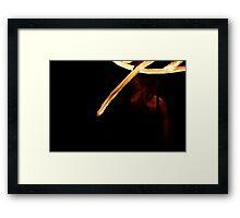 Fire Twirling 0030 Framed Print