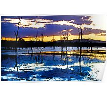 Dusk on the Dam, Somerset Dam, Qld Australia Poster