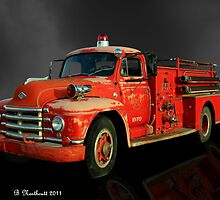 1955 Diamond T Fire Truck - An American Classic by Betty Northcutt