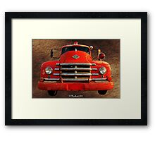 1955 Diamond T Grille - The Cadillac Of Trucks Framed Print