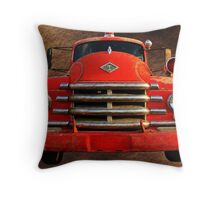 1955 Diamond T Grille - The Cadillac Of Trucks Throw Pillow