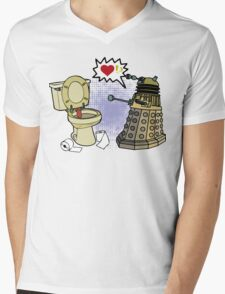 doctor who dalek love Mens V-Neck T-Shirt