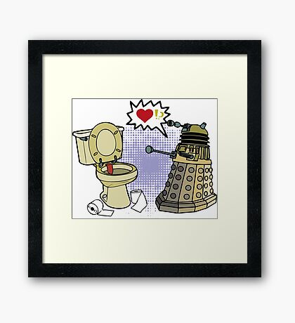 doctor who dalek love Framed Print