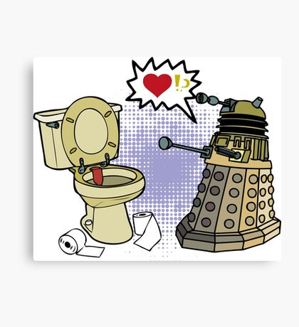 doctor who dalek love Canvas Print