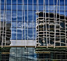 Building Reflections on Yarra Bank by JohnKarmouche