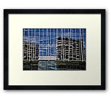 Building Reflections on Yarra Bank Framed Print
