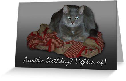 Grumpy Cat Birthday Card by MotherNature