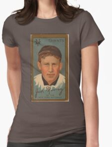 Benjamin K Edwards Collection John J Murray New York Giants baseball card portrait Womens Fitted T-Shirt