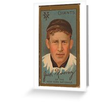 Benjamin K Edwards Collection John J Murray New York Giants baseball card portrait Greeting Card