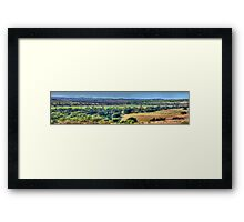 Patchwork - Jugiong, NSW Australia (30 Exposure Panorama) - The HDR Experience Framed Print