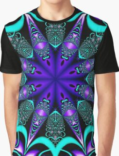 Decorative star in blue, purple and turquoise / green Graphic T-Shirt