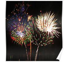 Firework bouquet Poster