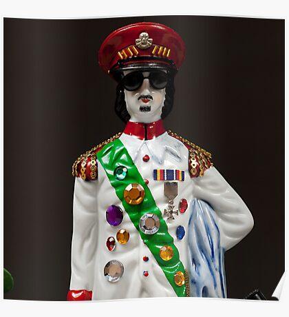 Gaddafi's Gal Guards Guarding Gaddafi (detail) Poster