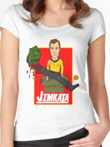 JIMKATA Women's Fitted Scoop T-Shirt