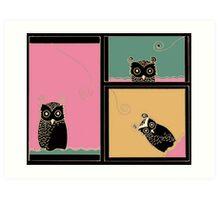 Owl be seeing you too Art Print