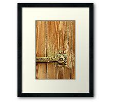 The Door Catch Framed Print