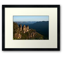 Three Sisters, New Years Day Framed Print