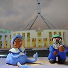 Mickal Photograph's Mum and Dad at Parliament house by Jenny Enever