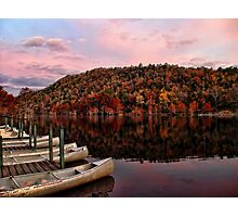 Canoes In Fall Color Photographic Print