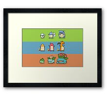 Pokemon evo Framed Print