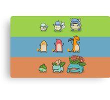 Pokemon evo Canvas Print