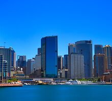 Smooth Sailing - Circular Quay - Sydney Harbour - Australia by Bryan Freeman
