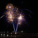 New Year Fireworks Semaphore Jetty by KathyT
