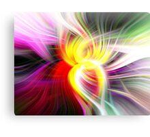 Multi Colored Digital Twirl Design Canvas Print