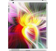 Multi Colored Digital Twirl Design iPad Case/Skin