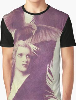 The Lady of Ravens surreal artwork Graphic T-Shirt