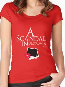 A Scandal In Belgravia (White) Women's Fitted Scoop T-Shirt