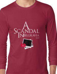 A Scandal In Belgravia (White) Long Sleeve T-Shirt