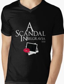 A Scandal In Belgravia (White) Mens V-Neck T-Shirt