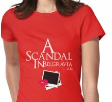 A Scandal In Belgravia (White) Womens Fitted T-Shirt
