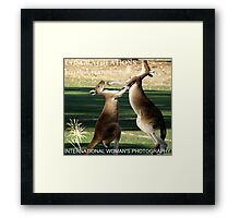 My Banner for International Woman's Photography Challenge Framed Print