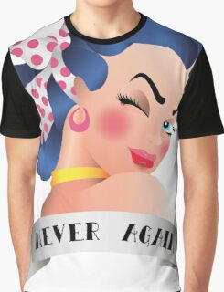 Never Again Pin-up Graphic T-Shirt